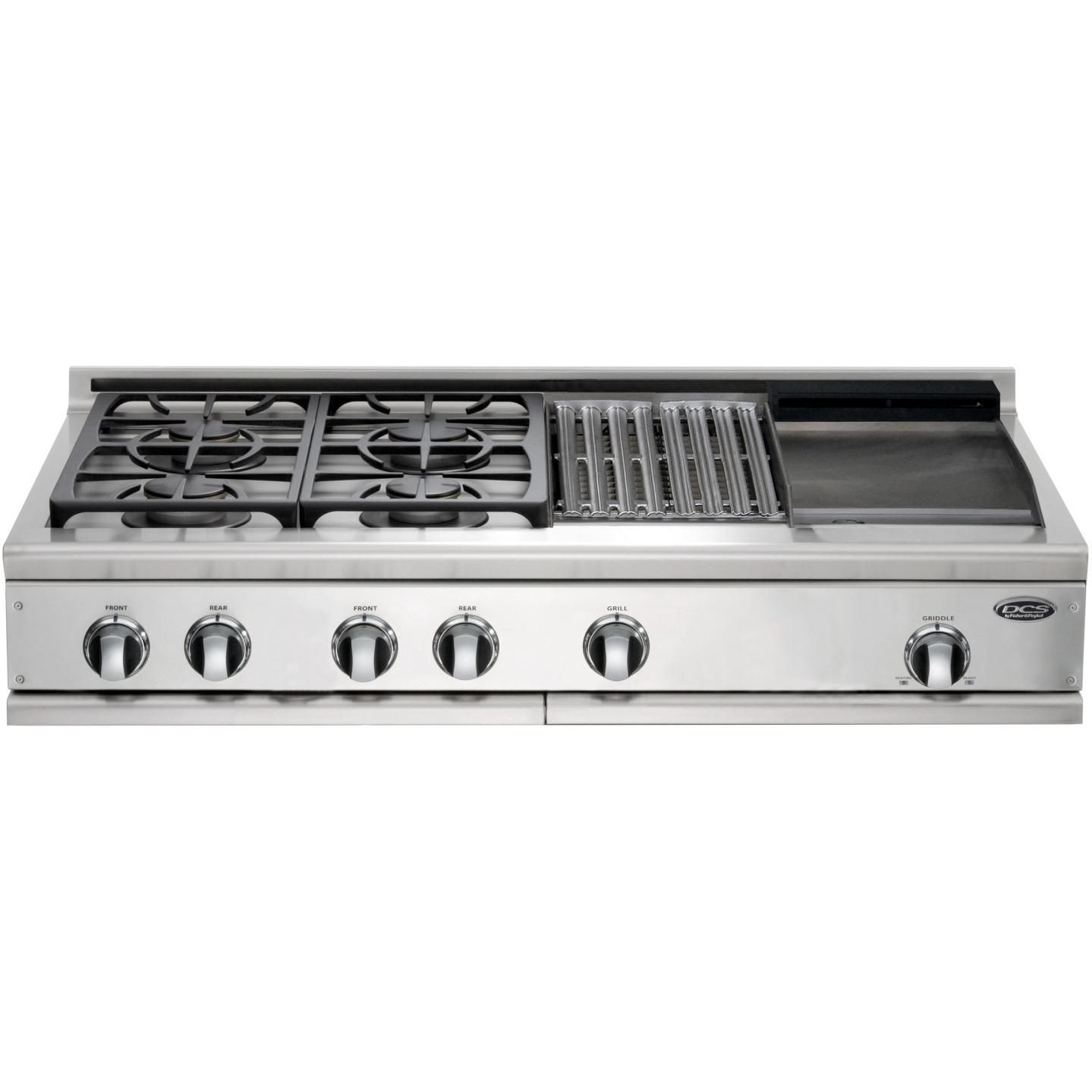 Dcs Cooktops 48 Inch Propane Gas Cooktop With Griddle Grill By Fisher Paykel Cp 484gg