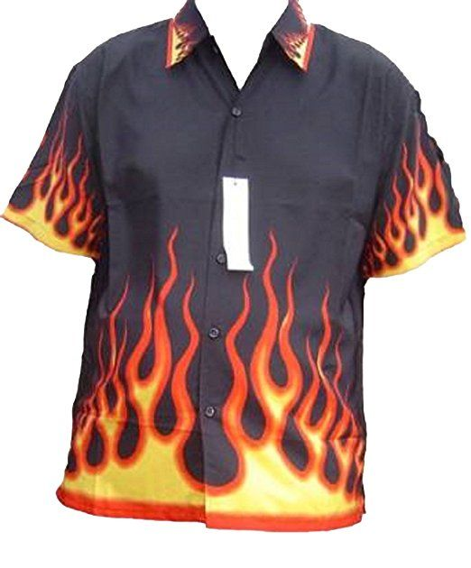 a7a0cbfb0 FIRE DRAGON AND FIRE FLAME FLAMES SHIRT NEW STYLE kids childs all ages  SHORT SLEEVE COOL (extra small boys 3-4 years, FIRE AND FLAMES ALL OVER)
