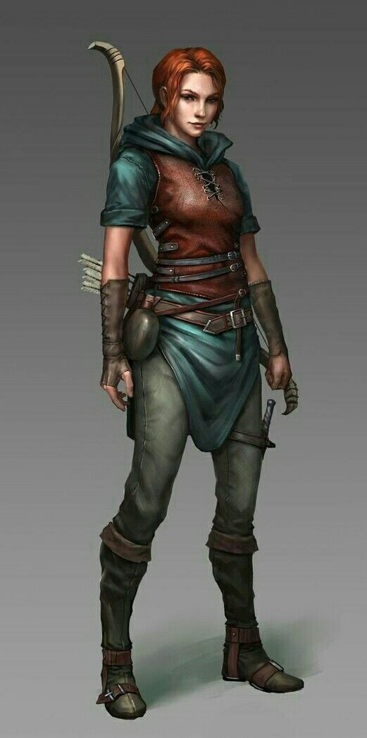 Character Design D D : Human female rogue pathfinder pfrpg dnd d fantasy