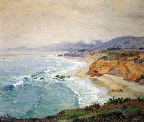 radstudies: Guy Rose (American, 1867-1925) Lifting Fog, Laguna #Impressionism…