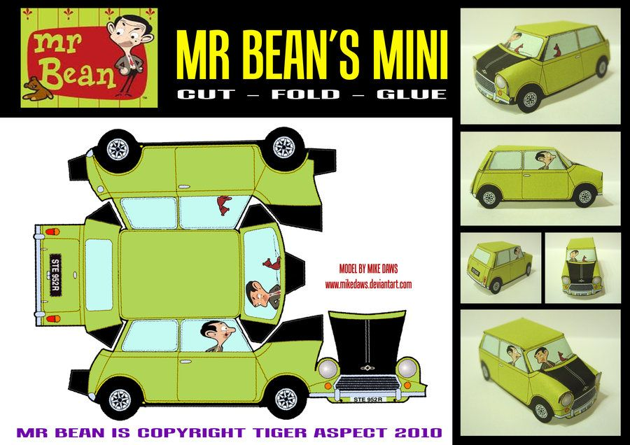 Mr Bean S Mini Papercraft By Mikedaws Deviantart Com On