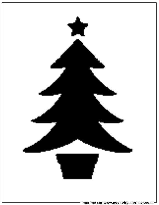 Pochoir à Imprimer Pochoir Noël Pochoir Noel Pochoir