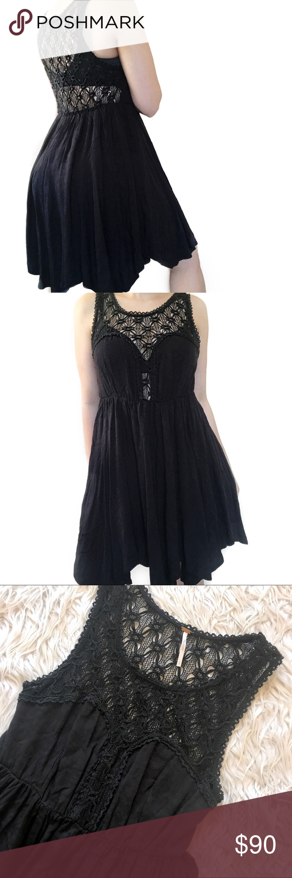 Free people u black flowy dress