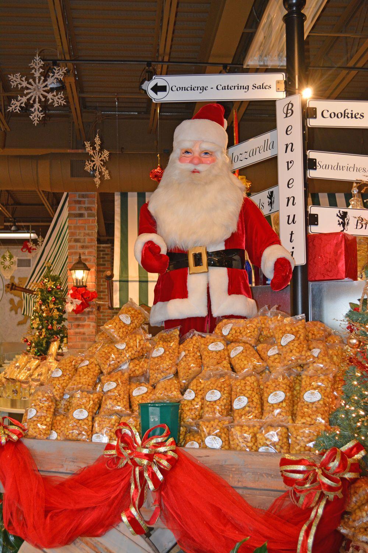 Santa with Featured Item-Polenta Puffs!