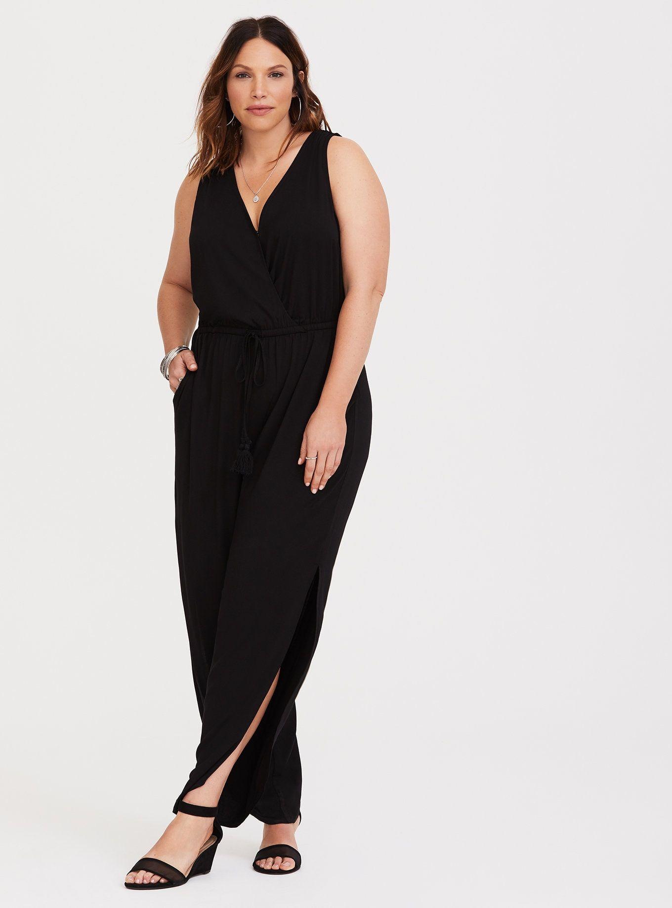 217af3b444c0 Tulip Leg Challis Plus Size Jumpsuit -- Customers love it