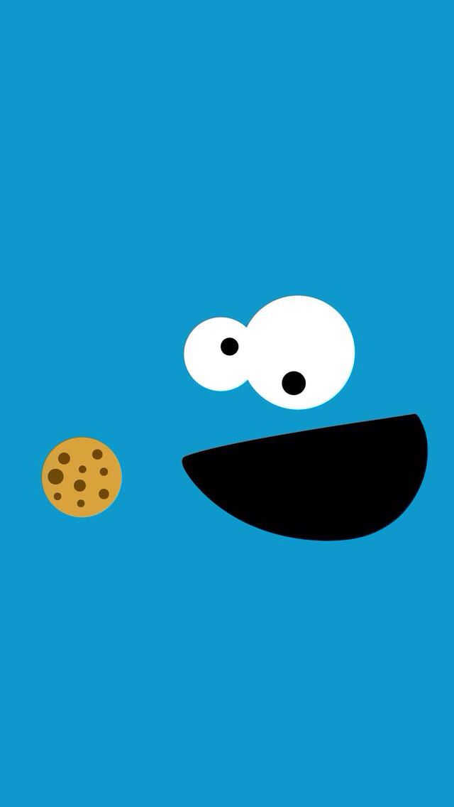 Cookie Monster Funny Background For IPhone IPad And IPod Touch