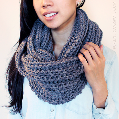 Free Knitting Pattern - Scarves: Textured November Infinity Scarf ...