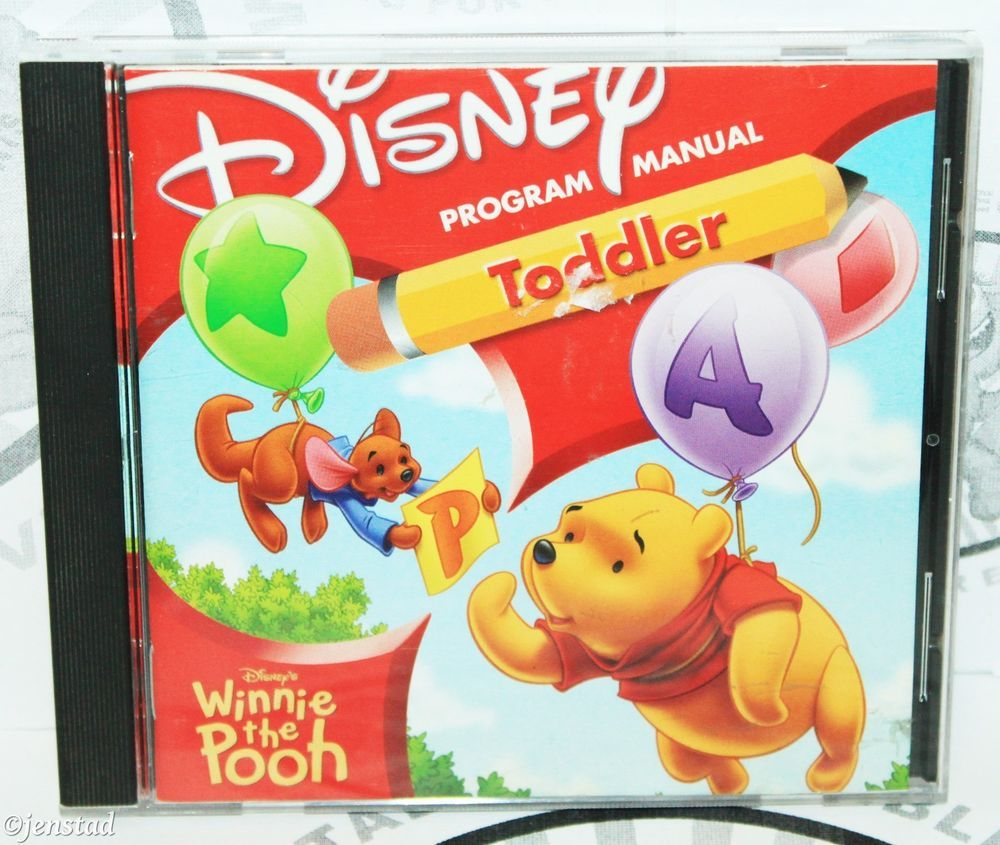 disney's winnie the pooh toddler software pc cd-rom learning