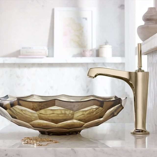 The Minimal Margaux Faucet In Vibrant French Gold And The Richly Custom Bathroom Plumbing 101 Minimalist