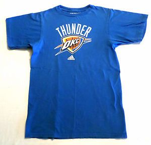 Mens Size S Adidas The Go-To Tee T Shirt, OKC Thunder, Oklahoma City, Basketball