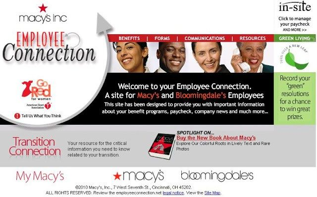 macy's insite employee connection