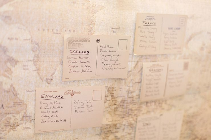 Travel themed wedding seating chart | fabmood.com