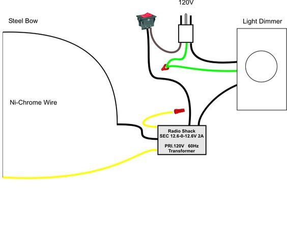 pictoral guide to a home made hot wire foam cutter miniwargaming rh pinterest com Electric Light Wiring Home Electrical Wiring Diagrams