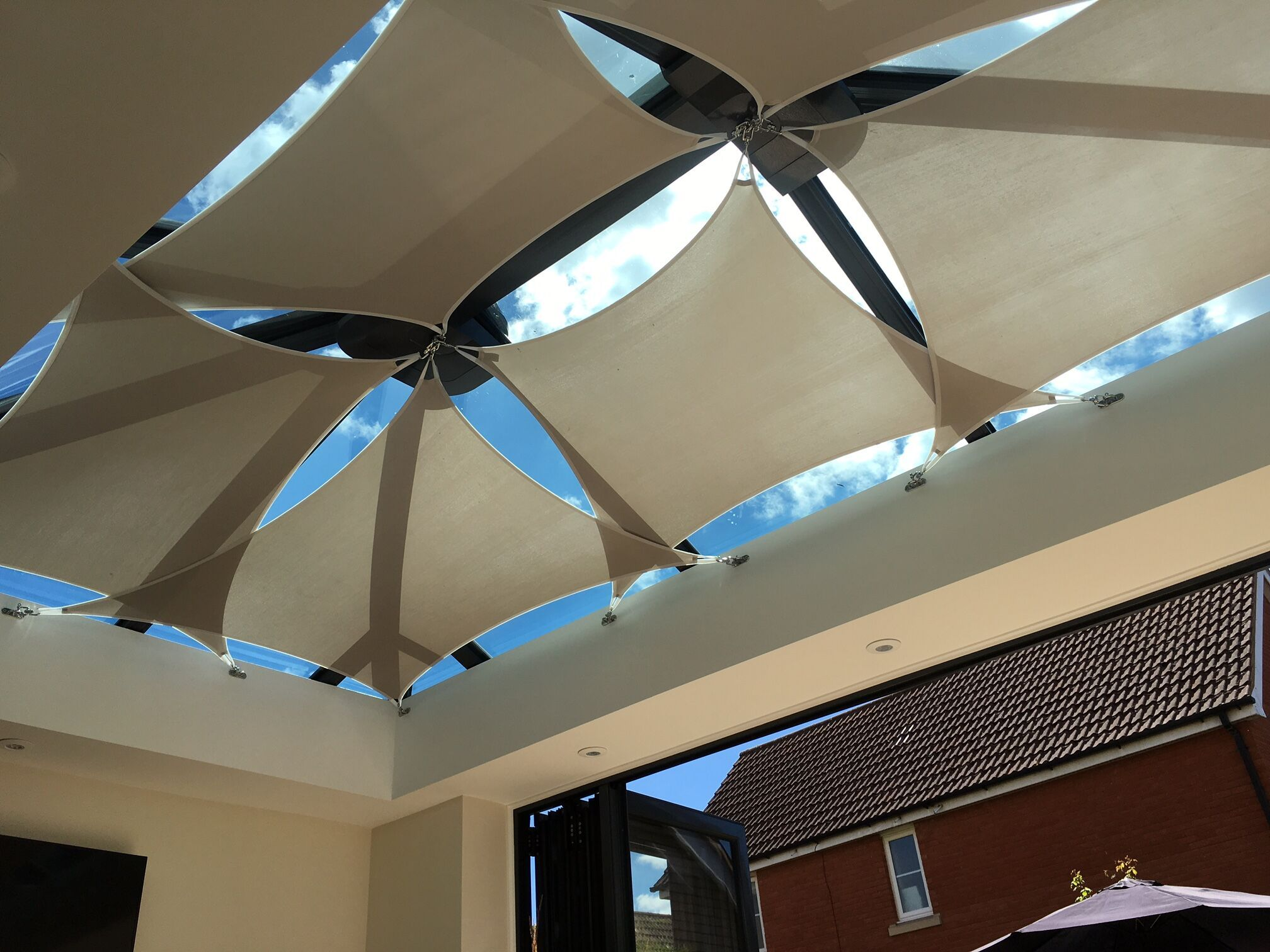 Control Glare And Heat With Inshade Sail Blinds Great For Conservatories Orangeries And Sunny Indoor Spaces Shade Sail Conservatory Roof Diy Shades