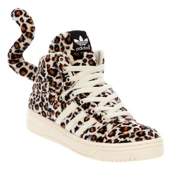 embarazada Detallado orden  ADIDAS ORIGINALS BY JEREMY SCOTT 'Remember A Leopard' trainer ❤ liked on  Polyvore featuring shoes, sneakers, round cap, leopard print s… | Calzas,  Chanclas