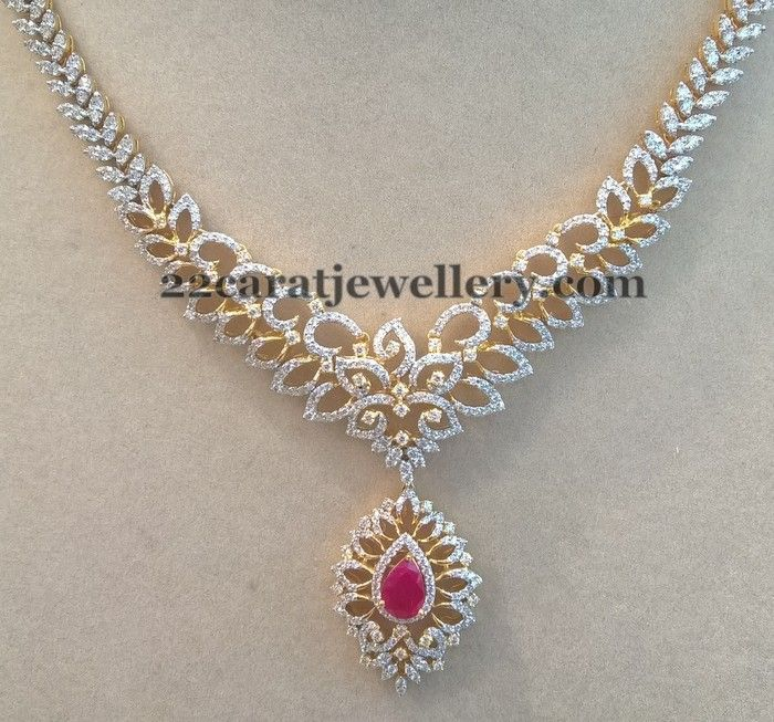41 grams diamond necklace pinterest indian jewelry collection latest collection of best indian jewellery designs aloadofball Images