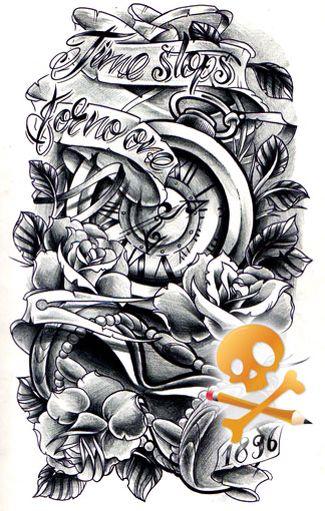Time Waits For No One Tattoo Ideas Pinterest Tattoos Sleeve