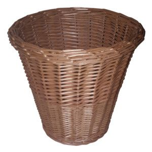 A Nice Tidy Wicker Waste Paper Basket It Is Made Of Full Buff Willow With Slightly Tapered Sides And Striped Pattern Woven In