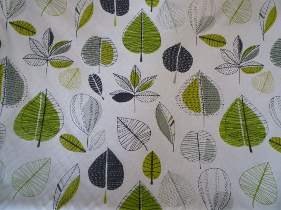 Lime Green Grey Floral Fabric Funky Uk Contemporary Modern Etsy Floral Shower Curtains Floral Fabric Green And Grey