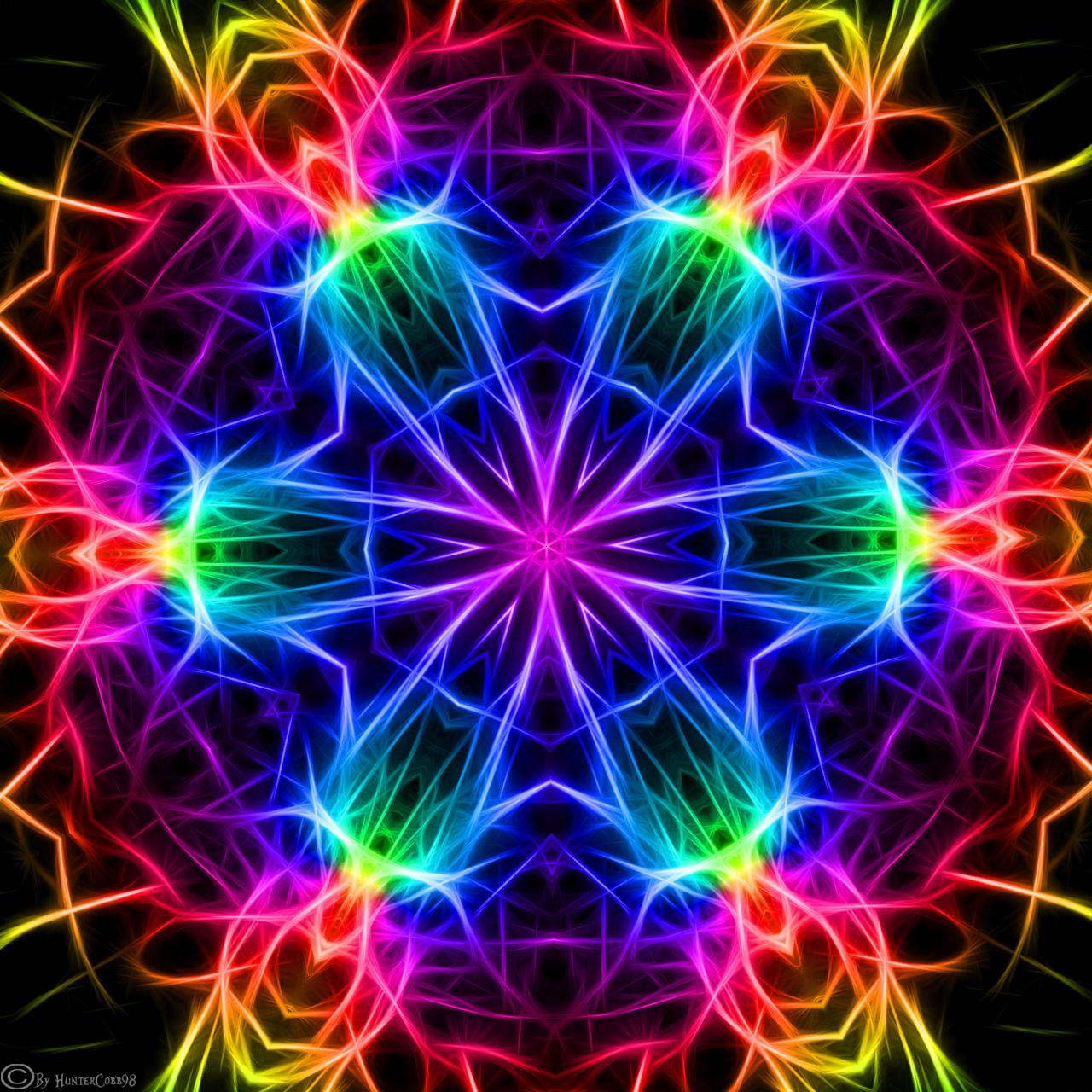 Kaleidoscope 99 By Huntercobb On Deviantart Rainbow Wallpaper Dot Art Painting Mandala Coloring Pages