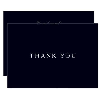 elegant - #Midnight Blue Elegant Funeral Thank You Note Card