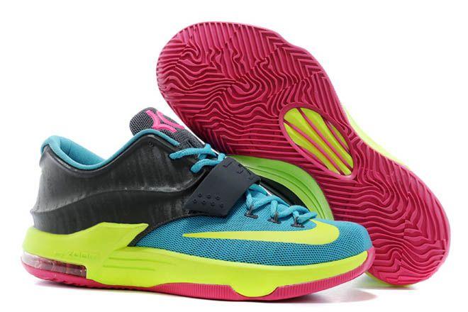 8ca26744d115 Hyper Pink Volt Hyper Jade and Dark Base Grey Men Size Nike Zoom KD 7