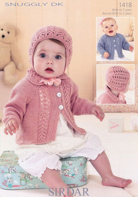 Sirdar - 1418 - Cardigans and Bonnet (birth - age 7) | Knitting for ...