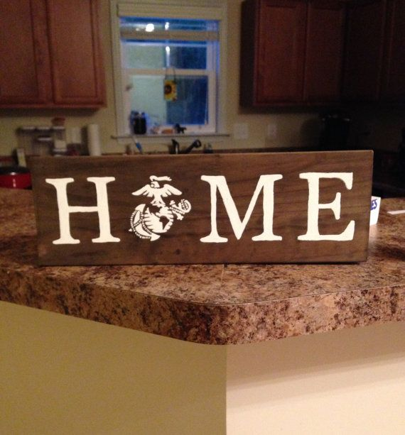 Beau Home Marine Corps Decor Sign By KTsCharmingCreations On Etsy