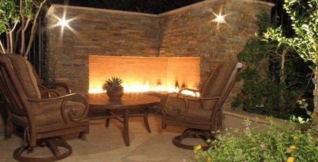 Backyard Landscaping Ideas - Exterior Fireplaces Meant to Enhance