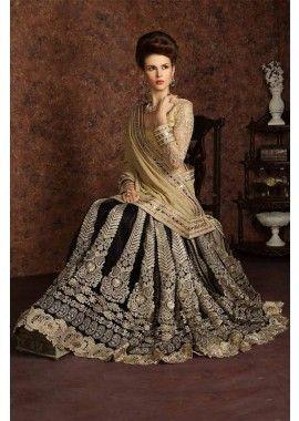 couleur noire fantaisie jupe pallu tissu embroidrey net travail saree, - 310,00 €, #Robebollywood #Robepakistanaise #Sarimariage #Shopkund