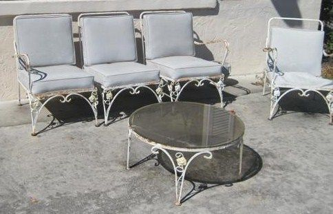 vintage retro antique patio furniture patios wrought iron and