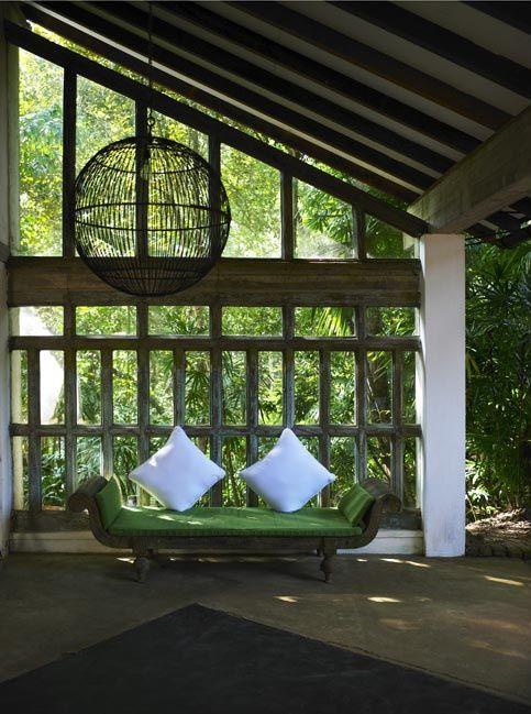 Tropical Courtyard Garden Spaces