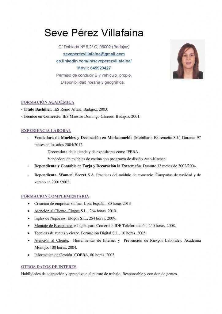 cv ventas y mercadeo - Ejemplos De Resume En Ingles