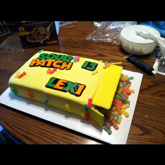 Cake Ideas For 13th Birthday Boy : 13th Birthday Cake-- Sour Patch Kids Cakes I ve Made