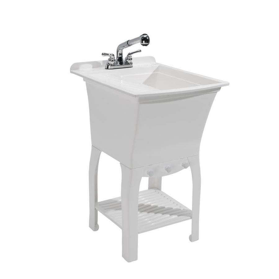 Cashel 20 5 X 25 75 White Freestanding Polypropylene Laundry Sink