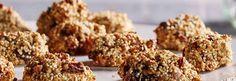 Quinoa-haverkoekjes met walnoten en rozijnen