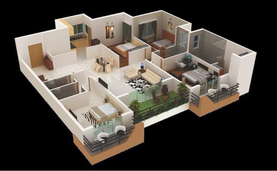 Plano de casa con habitaciones pequenas 18 ideas para for Disenar habitaciones online 3d