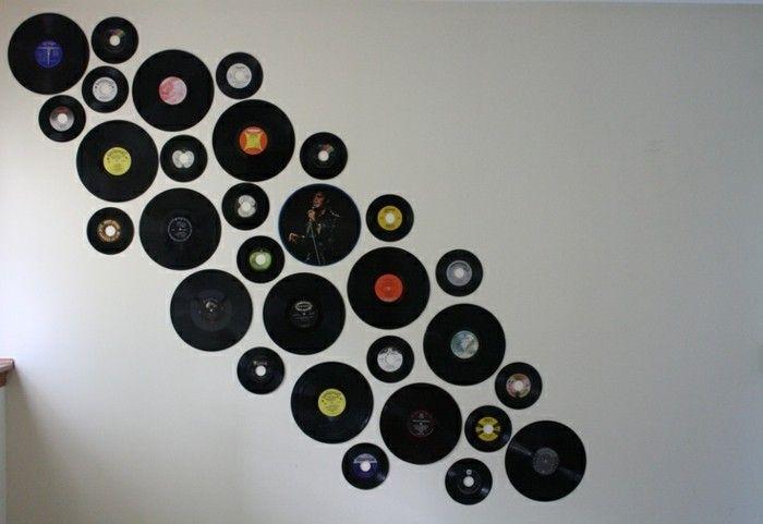 Deko Aus Schallplatten Schallplatten Als Wanddekoration