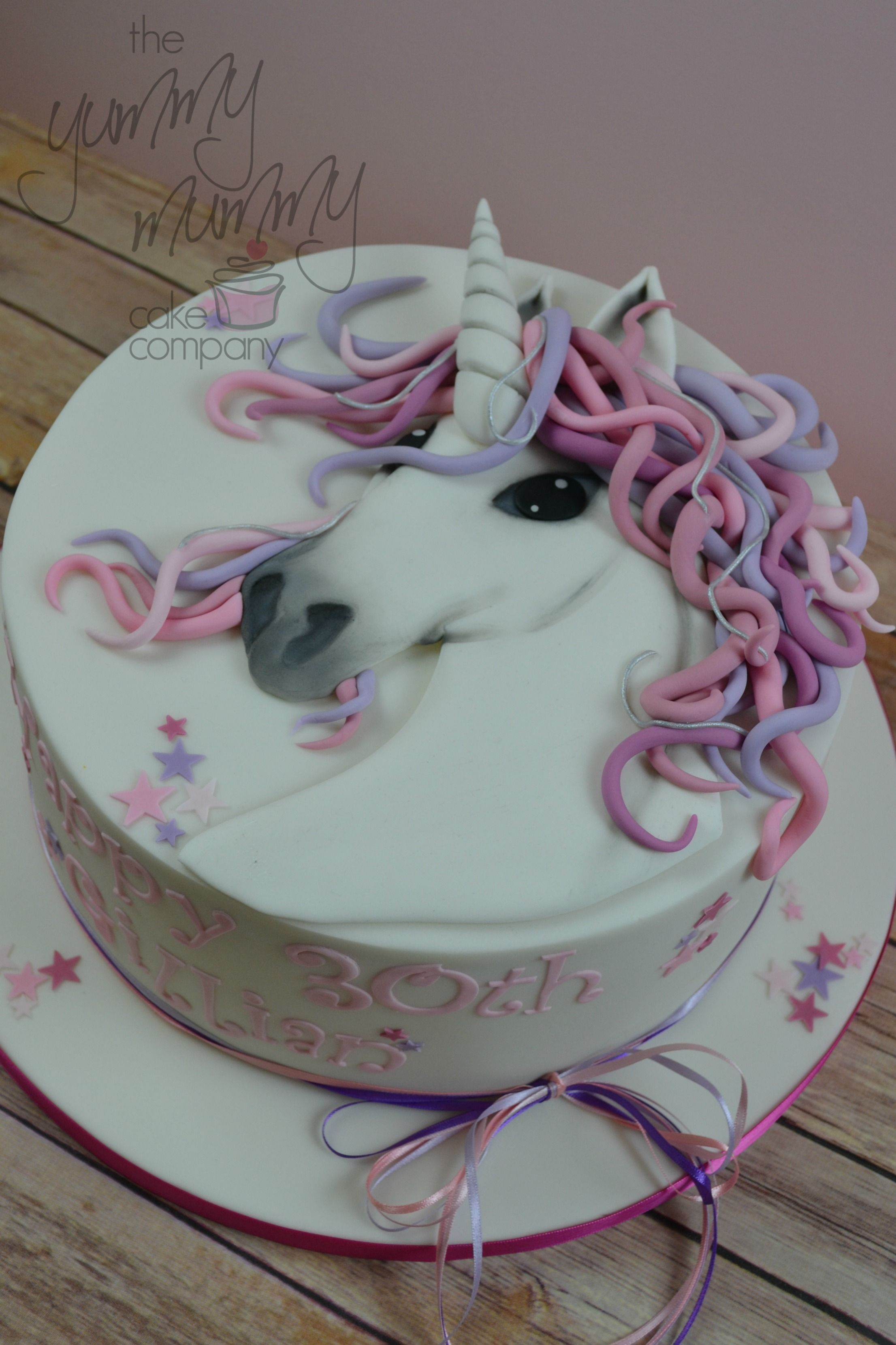 Unicorn Themed 30th Birthday Cake From The Yummy Mummy Company