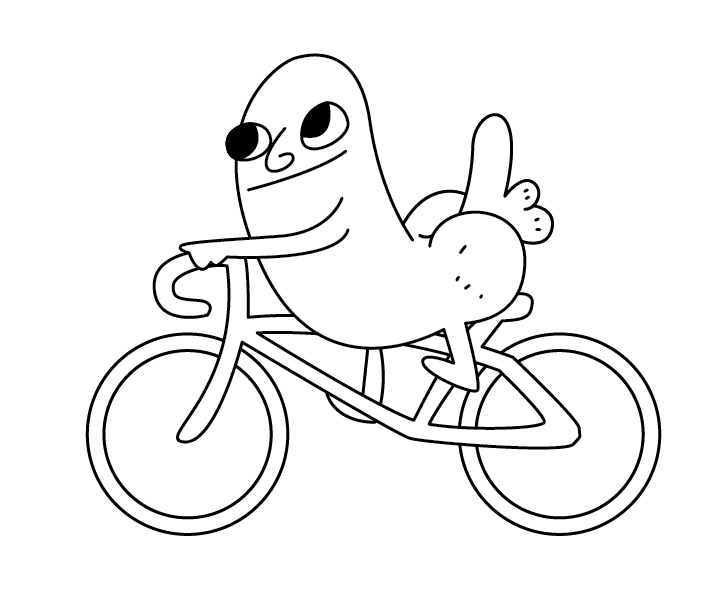 In Case Anybody Needs This For Anything Heres Dickbutt Riding A Bike Vector Image PDF Edit Whoever Gave Me Gold What The Hell Is Wrong With You