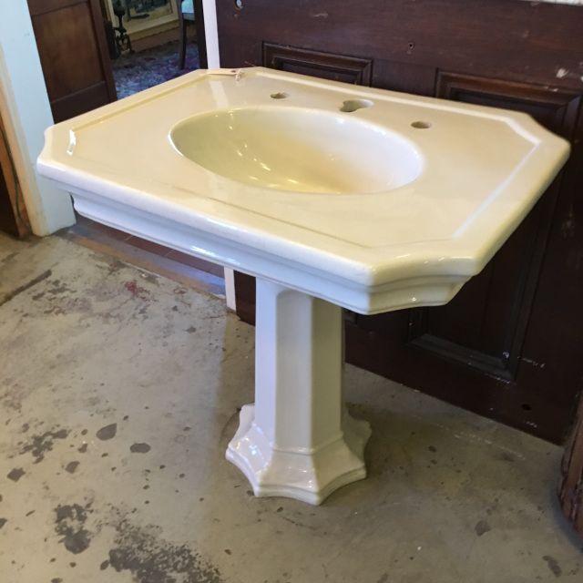 Rare Antique Porcelain Pedestal Sink In 2020 Pedestal Sink Antique Porcelain Rare Antique
