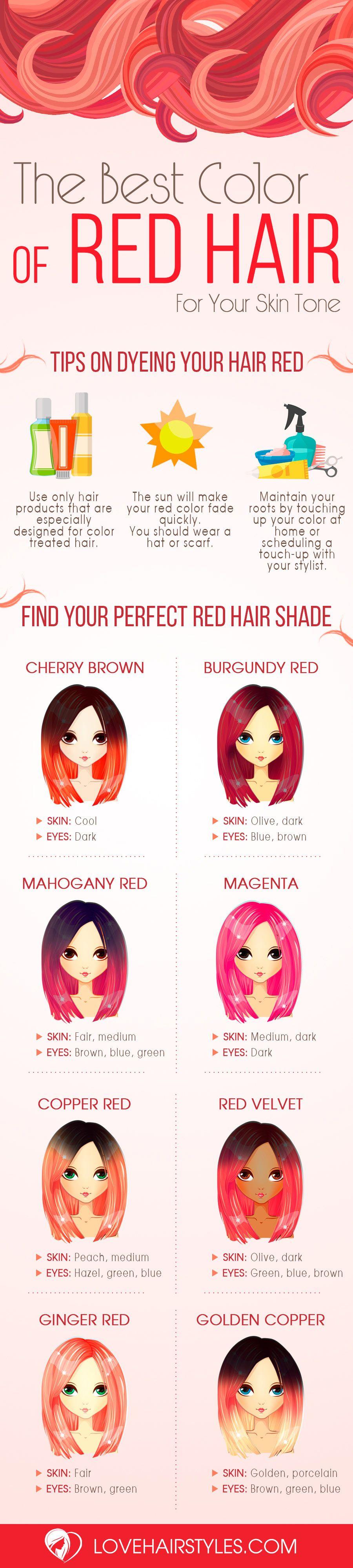 red hair colors for various skin tones red hair hair coloring