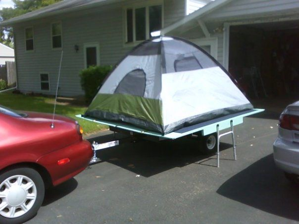 Removable Tent Platform For Trailer Camping Tent