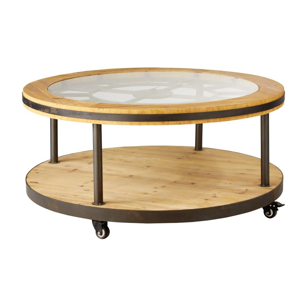 Table Basse Ronde Horloge Maisons Du Monde Table Basse Ronde Table De Salon Ronde Table Basse Blanche Design