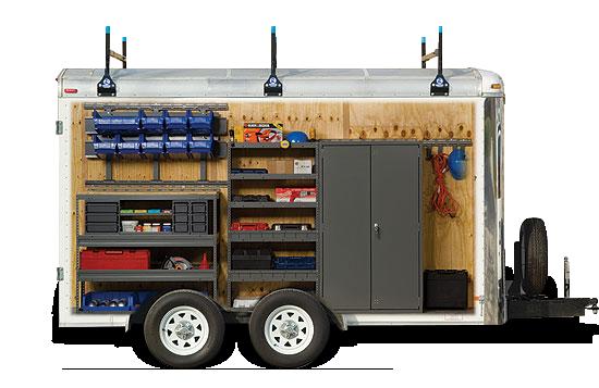 Cargo Trailer Storage And Equipment Trailer Shelving Cargo Trailers Trailer Storage