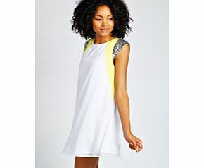 boohoo Sequin Shoulder Neon Flash Swing Dress - white Whether it's sugary show-stoppers or monochrome midis, we've got need-right-now night out dresses nailed. Bodycon dresses turn to tomboy textures with killer quilting, shift dresses get sporty with su http://www.comparestoreprices.co.uk/dresses/boohoo-sequin-shoulder-neon-flash-swing-dress--white.asp