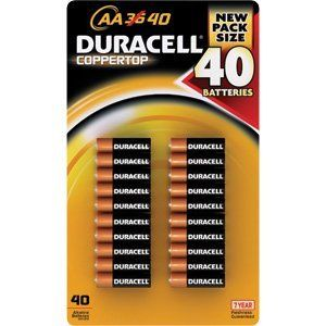 Amazon Com Duracell Coppertop 40 Aa Batteries Mn1500 Alkaline Health Personal Care Duracell Duracell Batteries Batteries
