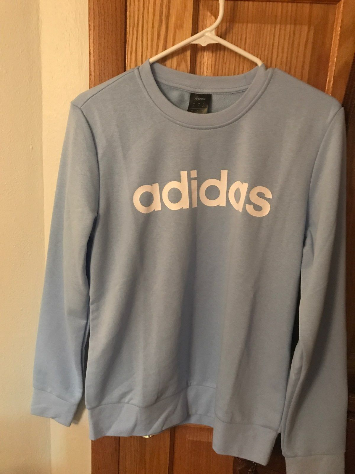 Light Blue Adidas Sweater Size Medium In Woman S Brand New Never Worn Let Me Know If You Have Any Questions Adidas Sweater Athletic Shirts Blue Adidas [ 1600 x 1200 Pixel ]