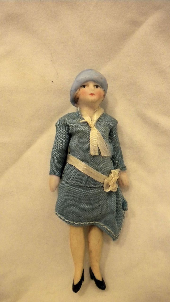 Antique German Doll House Flapper Doll 100% Original