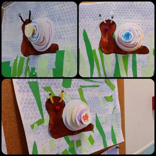 schnecken in 3d snails in 3d snails snail craft art for kids preschool. Black Bedroom Furniture Sets. Home Design Ideas
